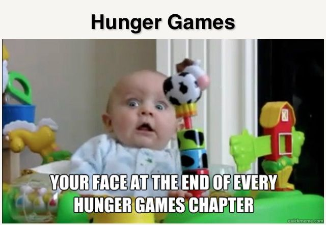 Haha so true! Hunger games humor - funny. Which is why you end up staying up all night to read it. (Also why you stay up for two nights in a row when you finish Catching Fire and HAVE to go on to Mockingjay immediately)