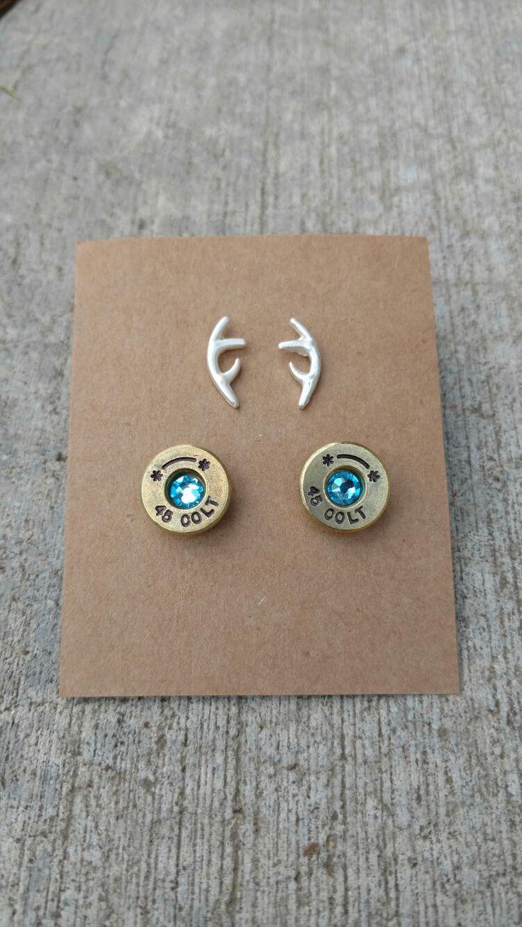 Bullet Jewelry Bullet Brass Stud Earringscountry Cutie Boutiquecountry  Girlcountry