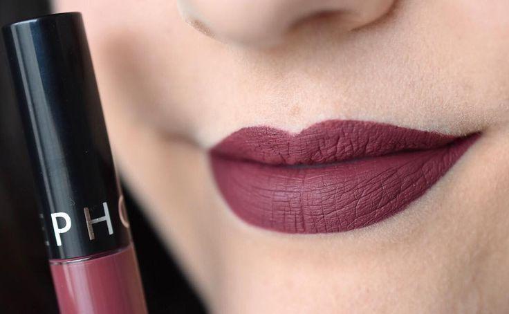Burnt Sienna Cream Lip Stain from @sephora | swatch @marinelp