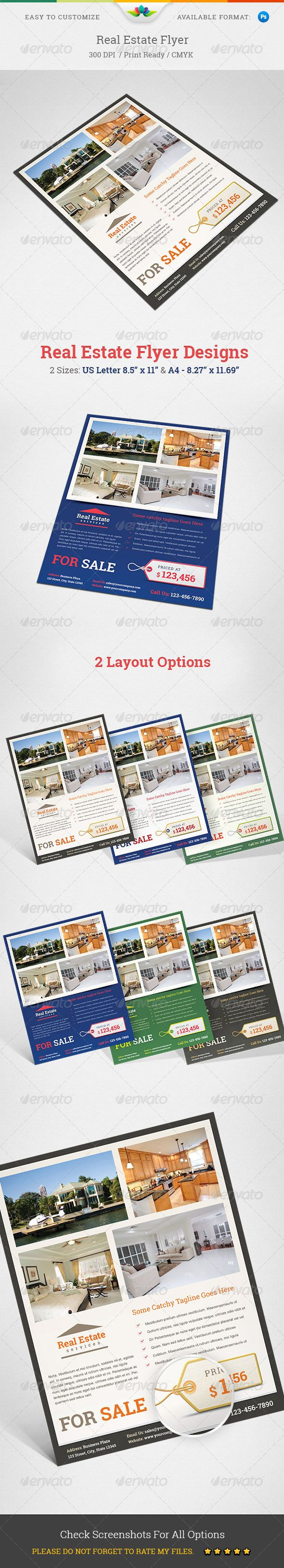 Real Estate Flyer GraphicRiver Item Specifications 2 Sizes US Letter 85 X