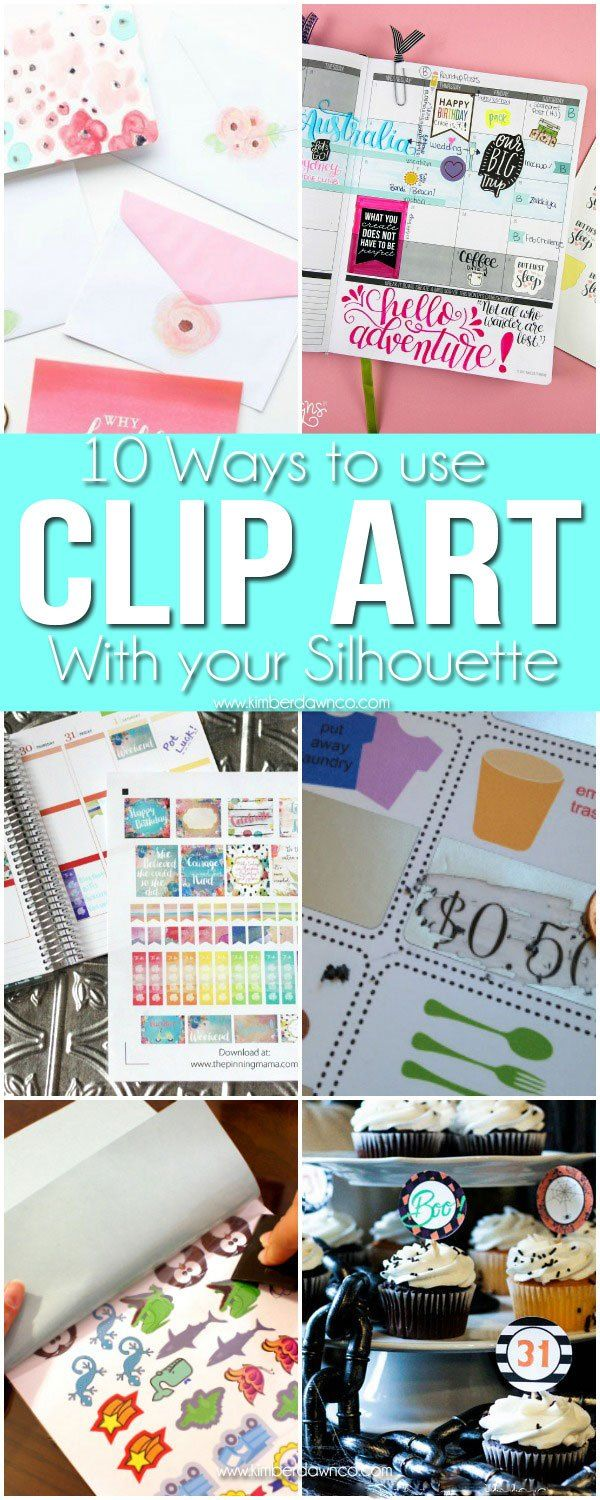 How to use Clip Art with Silhouette CAMEO Print & Cut Projects