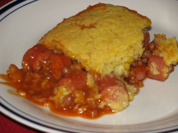 Baked Bean Corn Dog Casserole | Recipe
