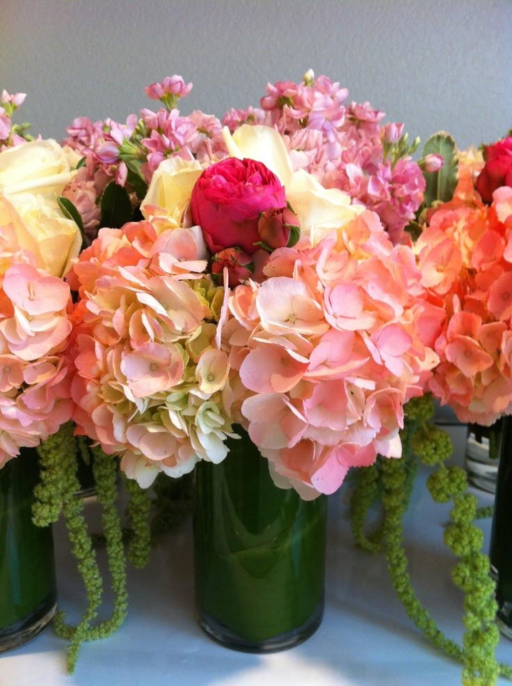 Top ideas about pink hydrangea centerpieces on