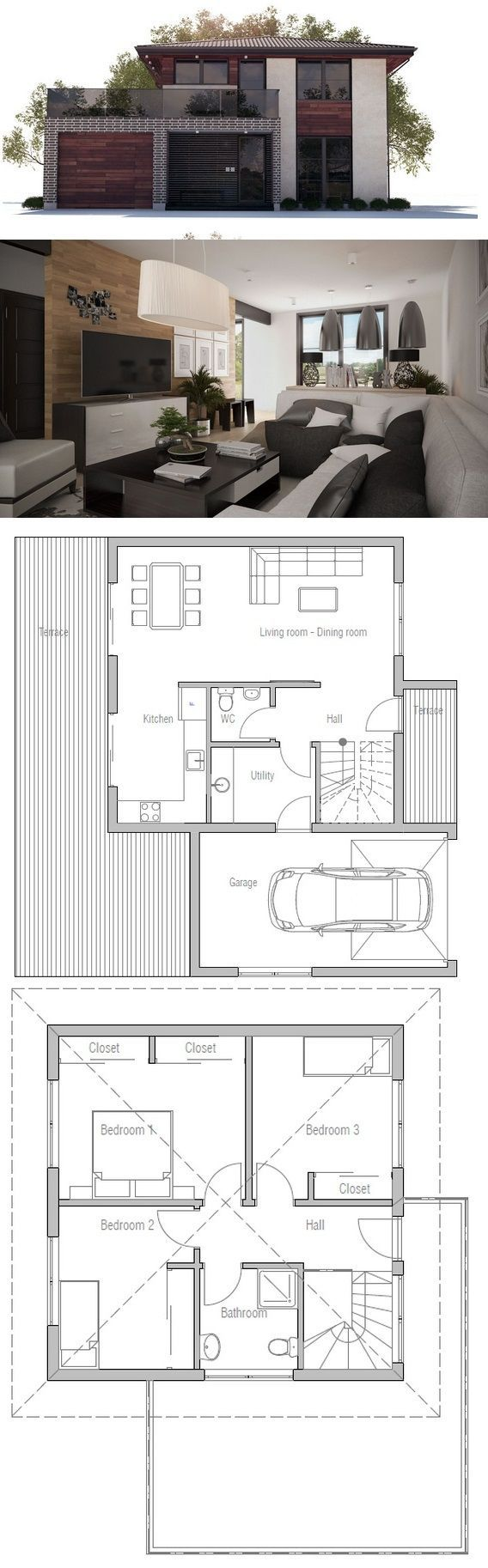 House Plan from ConceptHome.com Small House Plan: House Plan from…