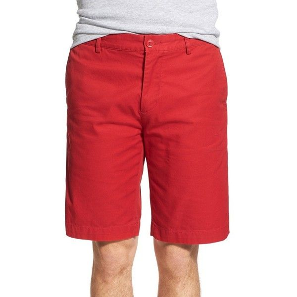 Lacoste Slim Fit Bermuda Shorts (280 BRL) ❤ liked on Polyvore featuring men's fashion, men's clothing, men's shorts, lighthouse red, mens bermuda shorts, slim fit mens clothing, mens red shorts, mens flat front shorts and mens slim fit shorts