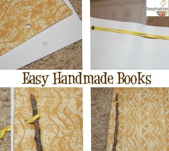 Easy Handmade Books writing diy - Age 8 + ?