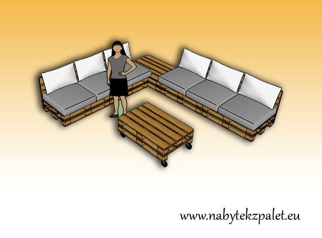 Pohovky | Sedací souprava MAX | Netradiční stylový nábytek - nábytek z palet.