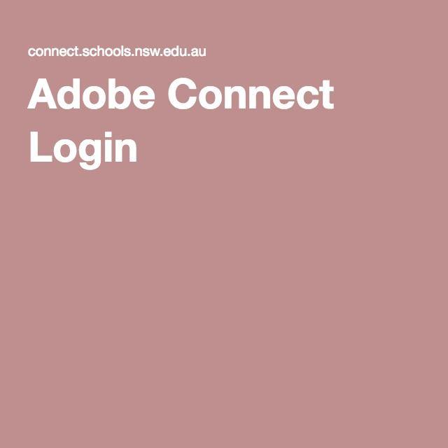 Adobe Connect Login