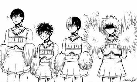 Boku no Hero Academia, Midoriya Izuku, Iida Tenya, Bakugou Katsuki, Todoroki Shouto
