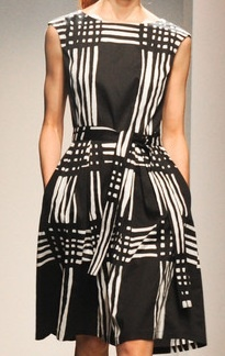 Spring dress - geometric - Marimekko | Spring 2013 #dresses #blackandwhite