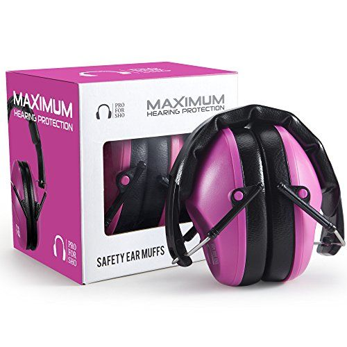 Pro For Sho 34dB Shooting Ear Protection - Special Designed Ear Muffs Lighter Weight & Maximum Hearing Protection , Pink - $17.97