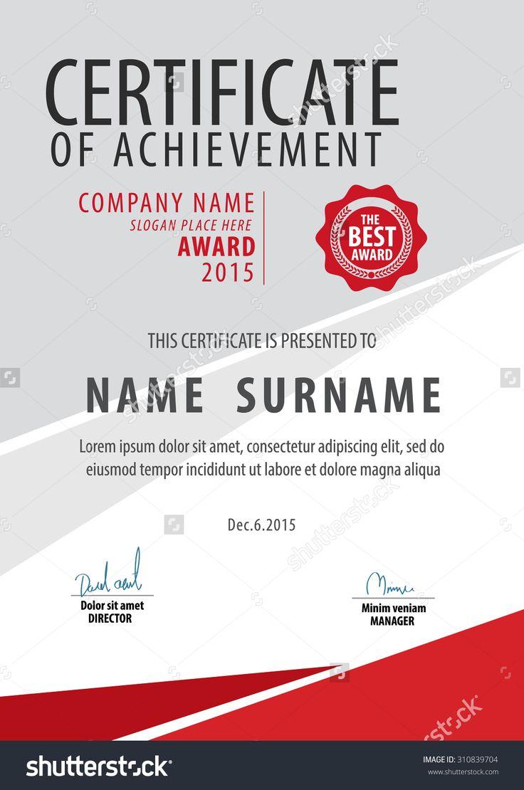 16 besten Certificate Bilder auf Pinterest   Zertifikatvorlagen ...
