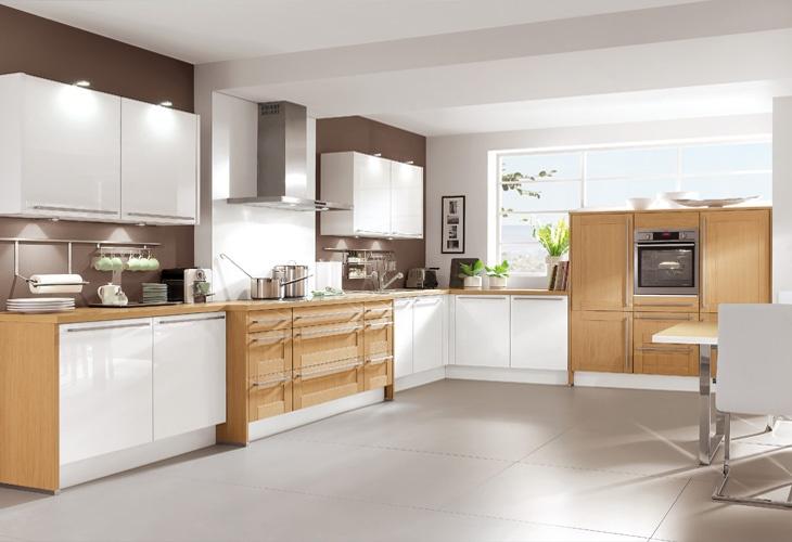 Küche in hellem Holz #Holzküche #Eckküche wwwdyk360-kuechende - küche weiß mit holz