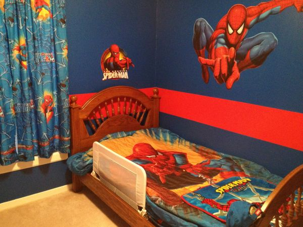 Red strip around jc room  Best 25 Spiderman bedrooms ideas on Pinterest bedroom