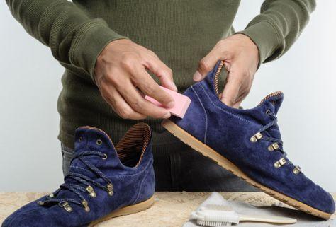 astuce pour nettoyer chaussure en daim
