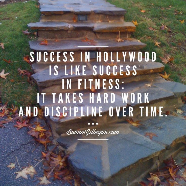 """Success in Hollywood is like success in fitness: it takes hard work and discipline over time. Hit http://bonniegillespie.com for FREE inspiration and guidance on bringing more joy to your creative career from the author of """"Self-Management for Actors,"""" Bonnie Gillespie!"""