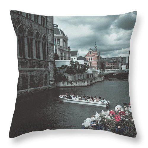 Travel Throw Pillow featuring the photograph The City Of Flowers by Elena Ivanova IvEA   #ElenaIvanovaIvEAFineArtDesign #Design #Pillow #Cushiоn #HomeDecor #Gift