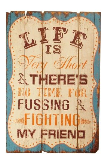 No Fussing and Fighting Wood Sign on HauteLook