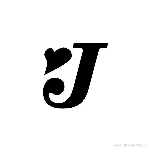Tattoo Fonts, Letter J Tattoo