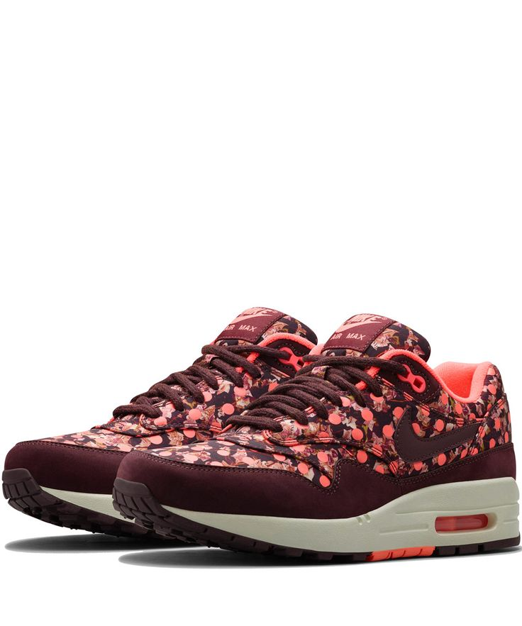 Nike x Liberty Burgundy Belmont Ivy Liberty Print Air Max 1 Trainers | Shoes  by Nike
