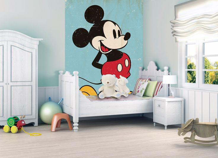 mickey mouse wall mural vintage room amp diy materials wallpaper accessories murals