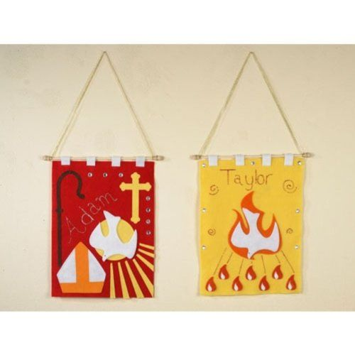 Amazon.com: Confirmation Banner Arts and Craft Kit for Catholic Youth: Arts, Crafts & Sewing