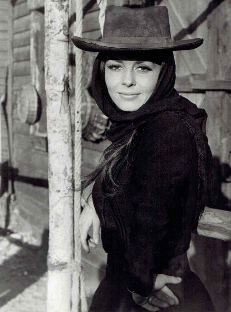 1968 Original Photo Pinup Michele Mercier models cowboy hat fashion in film role | eBay