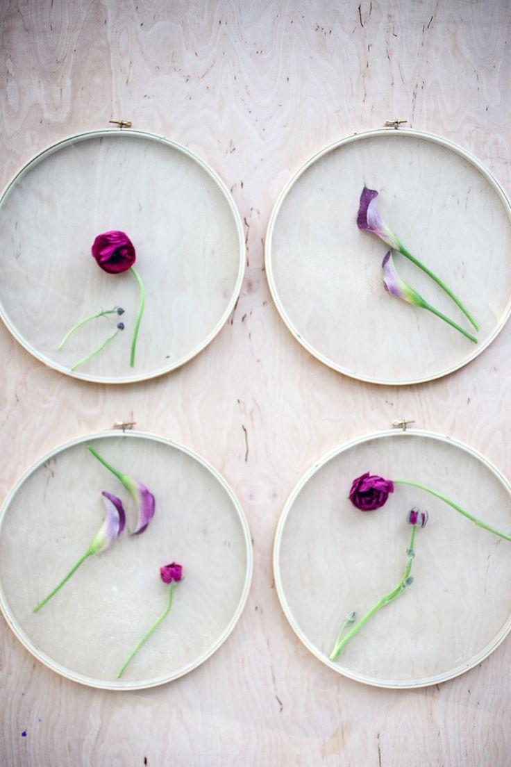 DIY: floral wall instillation