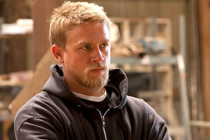 Charlie Hunnam as Jax Teller in Sons of Anarchy. I can't decide