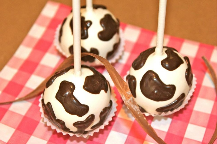 cow print cake balls