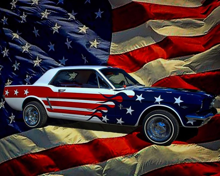 ford mustang american flag version paint red white and blue pinterest featured auto. Black Bedroom Furniture Sets. Home Design Ideas