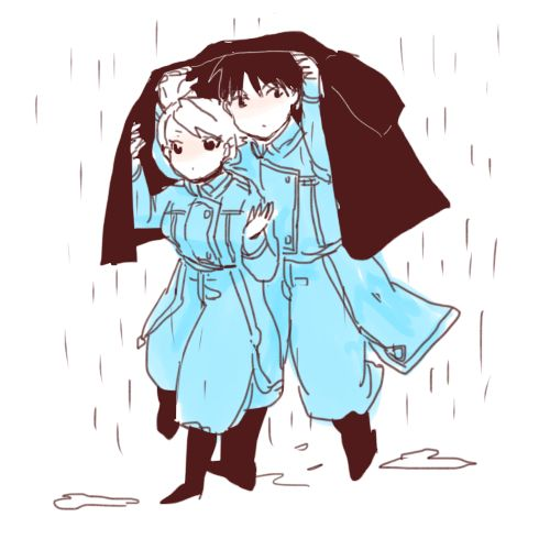 Riza Hawkeye and Roy Mustang from fullmetal alchemist. I ship it so hard!!!!