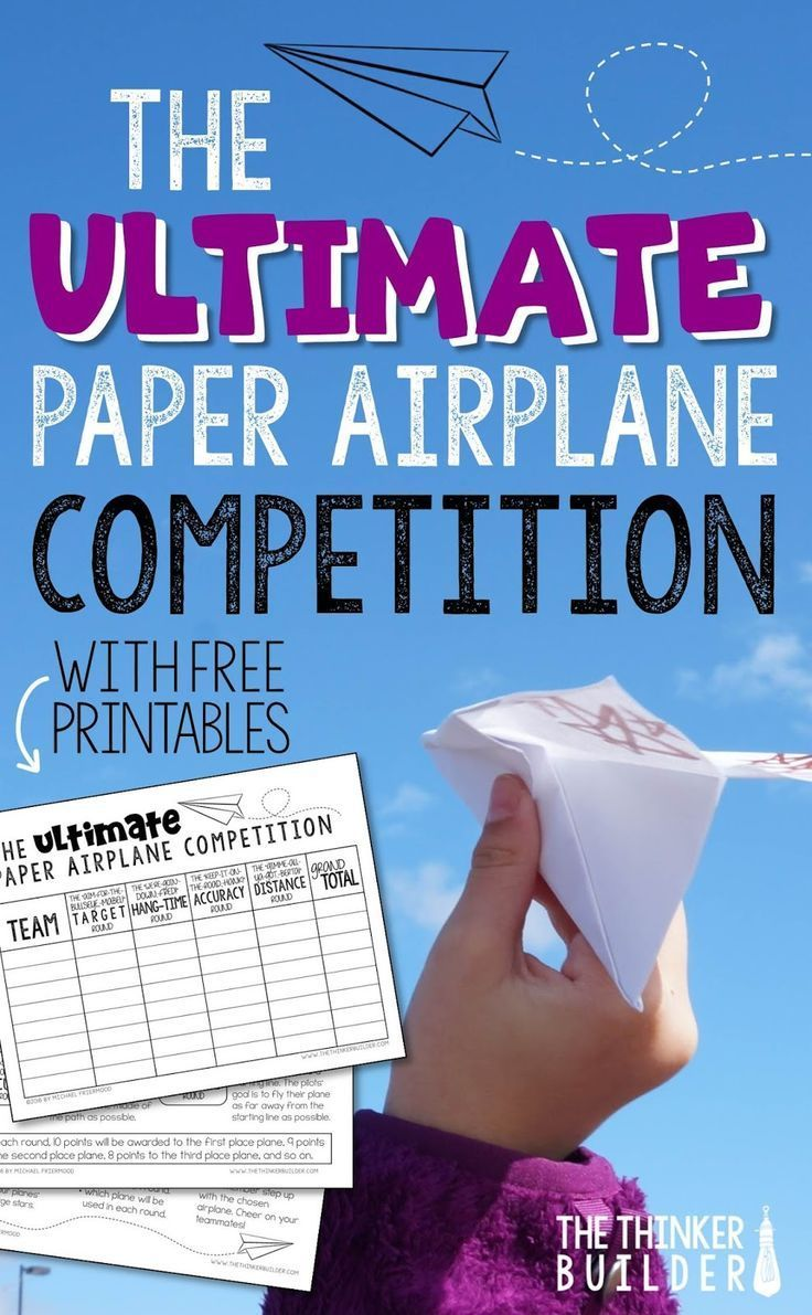 Paper Airplane Competition (The Thinker Builder)