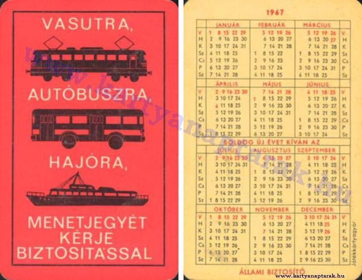 1967 - 1967_0124 - Régi magyar kártyanaptárak