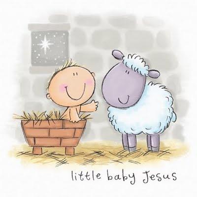 .navidad jesus con borrego caricatura