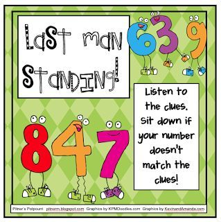 Last Man Standing -Place Value Game