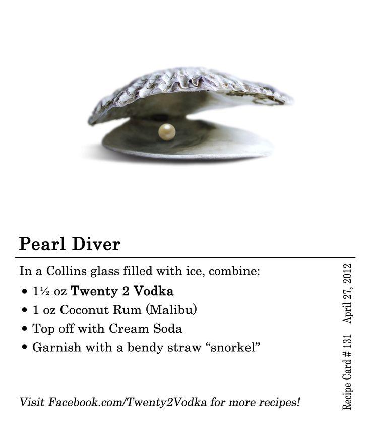Pearl Diver   Twenty 2 Vodka. America's Most Awarded Vodka. True ...
