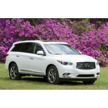 2013 Infiniti JX - Parents love this luxury crossover because it's big enough for the whole family but looks cool enough to drive. Features include: 3-row seating, lots of technology, very safe, and wow, a great sound system!