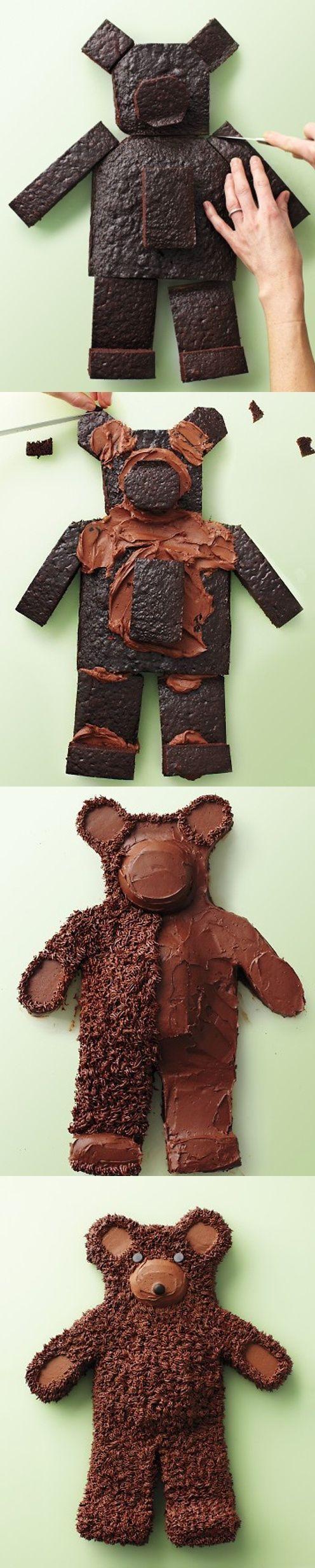 Teddy Bear Chocolate Cake