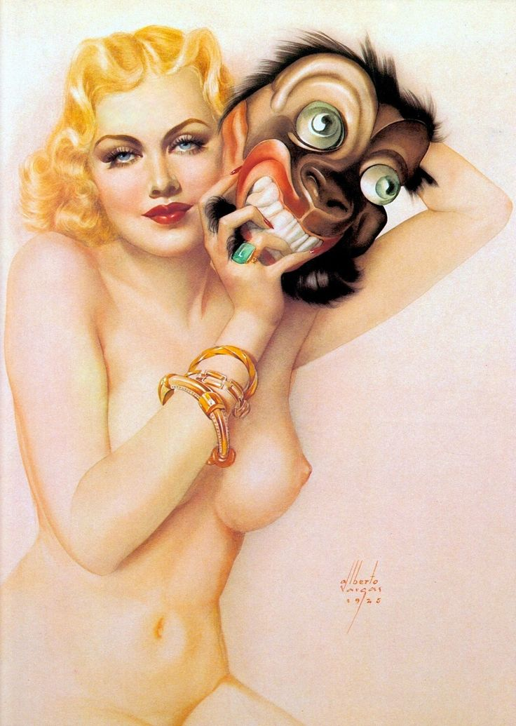 BEAUTY & THE BEAST 1925  illustration by ALBERTO VARGAS (1896-1982) From Vargas 20's-50's Taschen (please follow minkshmink on pinterest) #marlenedietrich #vargas #illustration #glamour