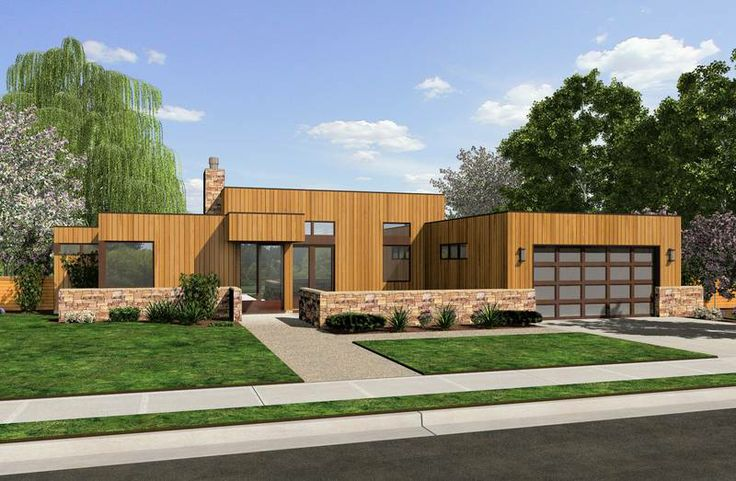 Garage under house free home plans garage homes flat for Flat roof garage plans modern