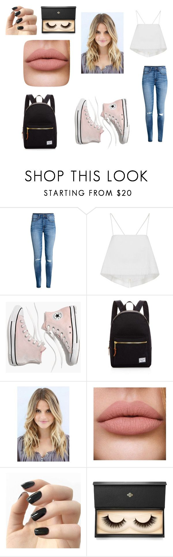 """""""Untitled #8"""" by jannahcantrell on Polyvore featuring H&M, A.L.C., Madewell, Herschel Supply Co., Incoco and Lash Star Beauty"""