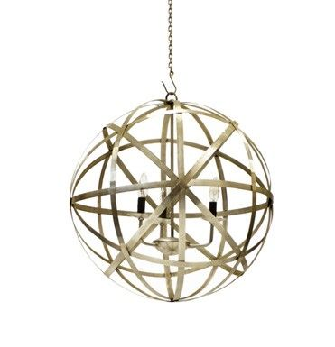 This fun lighting fixture is made of iron with a polished nickel finish.It measures 22