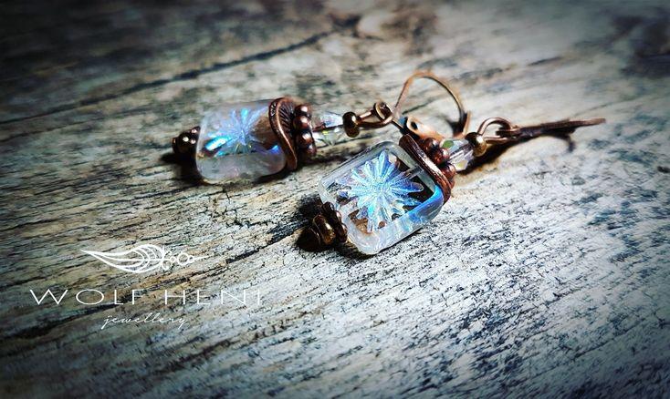 Sarkcsillag  #wolfheni #jewellery #handmade #earring #czechglassbeads #simple #elegant