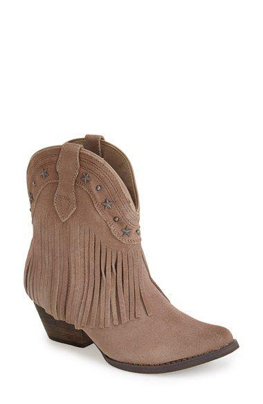 Very Volatile 'Deerwood' Fringe Western Boot (Women)