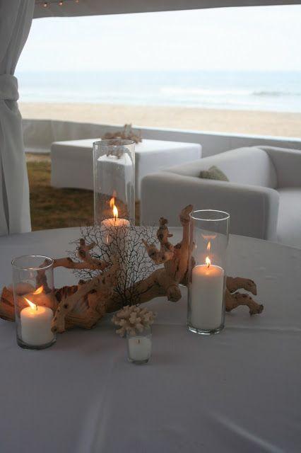 Driftwood Centerpiece Sandbridge Virginia Beach Isha Foss Events