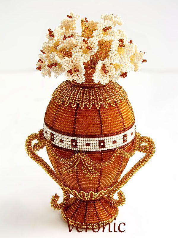 Яйцо по мотивам Фаберже | biser.info - всё о бисере и бисерном творчестве