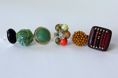 Turn vintage earrings into rings! By Southern Scraps