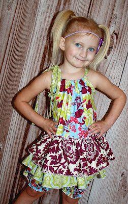 Create Kids Couture: Skirted Pillowcase Romper Tutorial