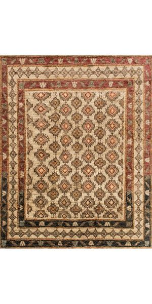 Featuring rich colors, ethnic patterns, and an earthy 100% jute fiber, this rug from India pays homage to tribal design while updating the look for today's interiors.